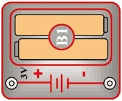 B1 (6SCB1) Držák na baterie (2x 1,5V AA)