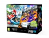 Wii U Premium Pack Black+MK8+Splatoon+NSMBU+NSLU
