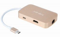 Minix NEO-C Multiport Adapter USB-C HDMI Gold