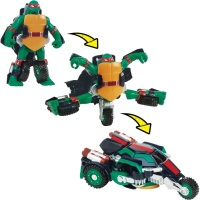TMNT Želvy Ninja TRANSFORM to vehicle RAPHAEL