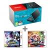 New N2DS XL Black&Turquoise + Pokémon UM + Mario S
