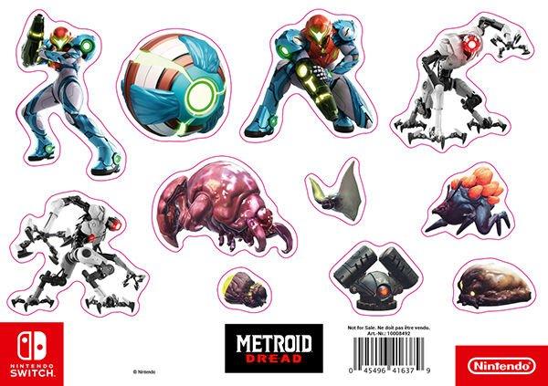 Stickersheet Metroid Dread