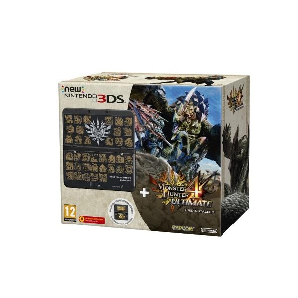 New Nintendo Black+Monster Hunter4U+MH4 Facepl