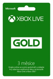 Xbox Live 3 months Gold Card