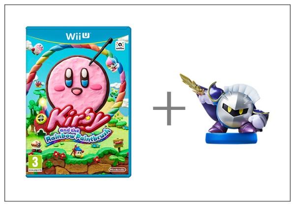 Kirby and Rainbow Paintbrush + Meta Knight