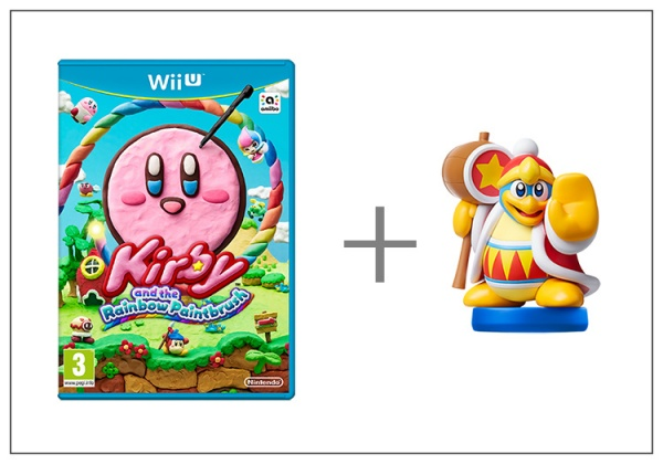 Kirby and Rainbow Paintbrush + King Dedede