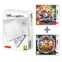 New Nintendo 3DS XL Pearl White+Mario Sports + YW2