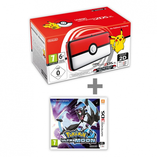 New N2DS XL Pokéball Edition + Pokémon Ultra Moon