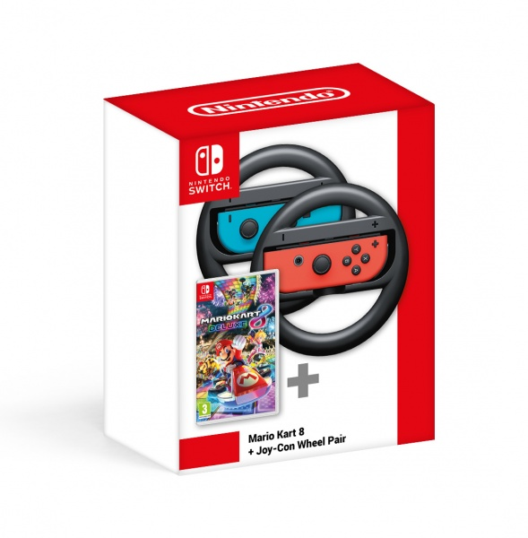 SWITCH Mario Kart 8 Deluxe + Joy-Con Wheel Pair