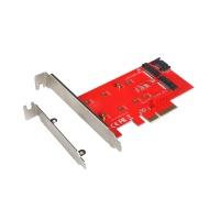 i-tec PCI-E 2x M.2 Card (PCI-E/SATA) + LP