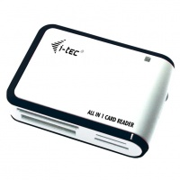 i-tec USB 2.0 All-in-One Card Reader WHITE/BLACK