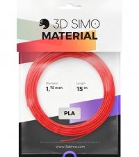 3DSimo Filament PLA II - red, purple, green 15m