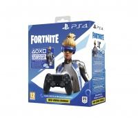 PS4 DualShock 4 Wireless Cont. V2 Black + Fortnite