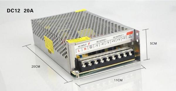 Zdroj 220/110V,12V/20A pro 3D tiskárnu